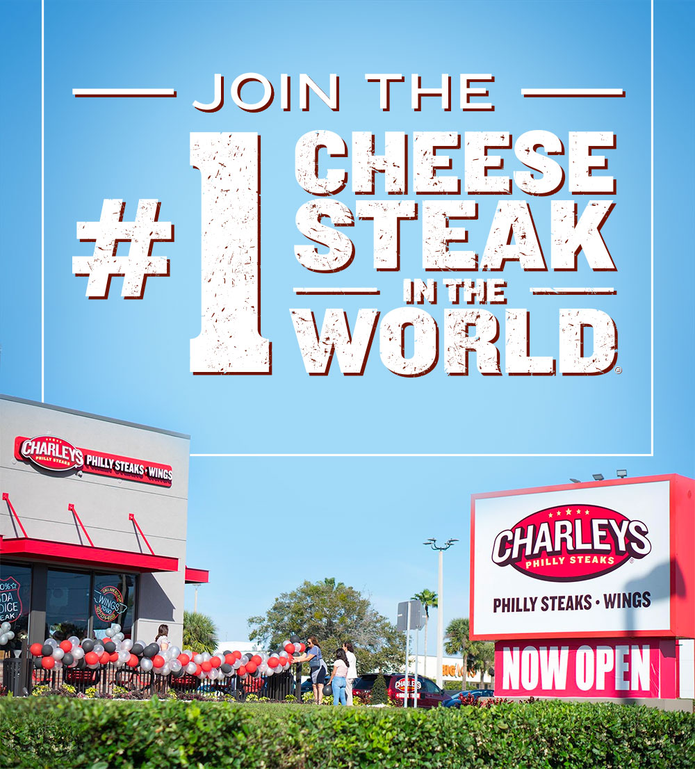 Charleys franchise infographic join #1 cheesesteak in the world